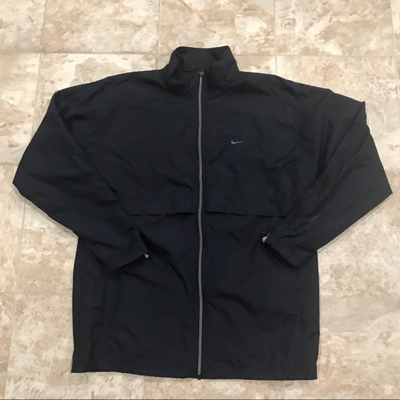 Nike Other - Nike Windbreaker Jacket Navy Blue Full Zip